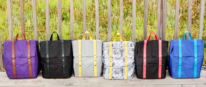 Tess Johnson's NOMAD backpacks