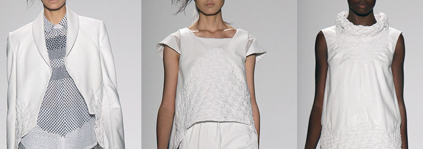 Szu Chi Huang Spring 2015 runway show in New York